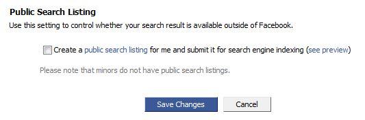 Public Search Listing