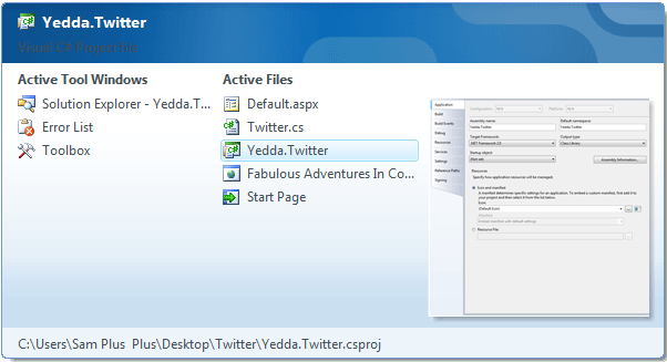 Visual Studio Ctrl + Tab