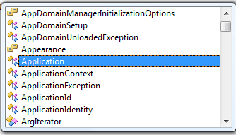 Visual Studio Intellisense