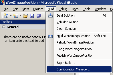 Visual Studio Configuration Manager